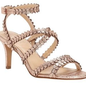 Vince Camuto Strappy Rose Gold Heels